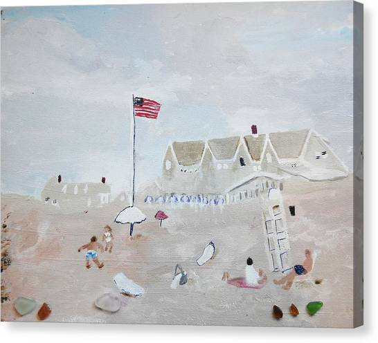 Canvas Print featuring the painting Summer On The Cape by Jean Forman