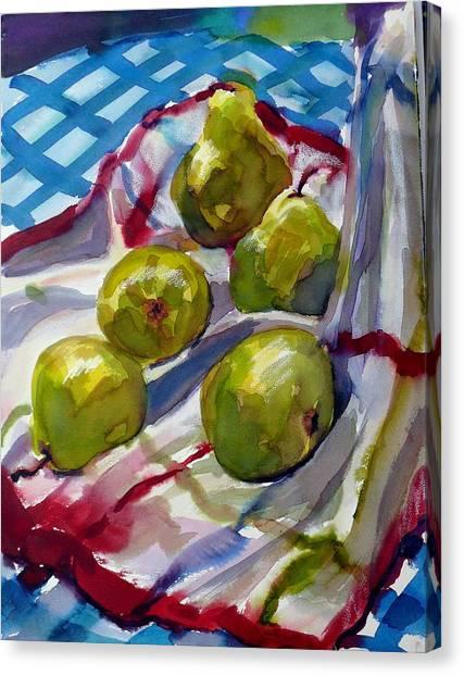 Summer Pears Canvas Print by Doranne Alden