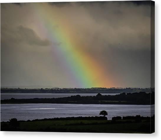 Canvas Print featuring the photograph Summer Rainbow Over Shannon Estuary by James Truett