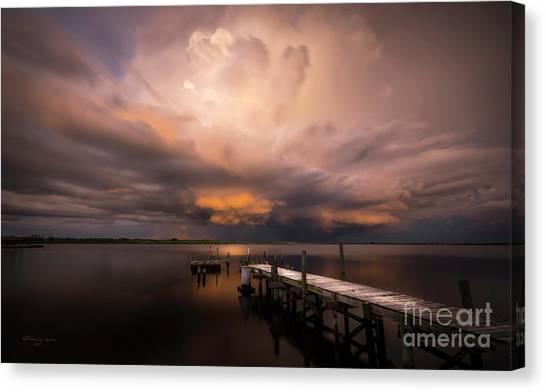 Tampa Bay Lightning Canvas Print - Summer Rains by Marvin Spates