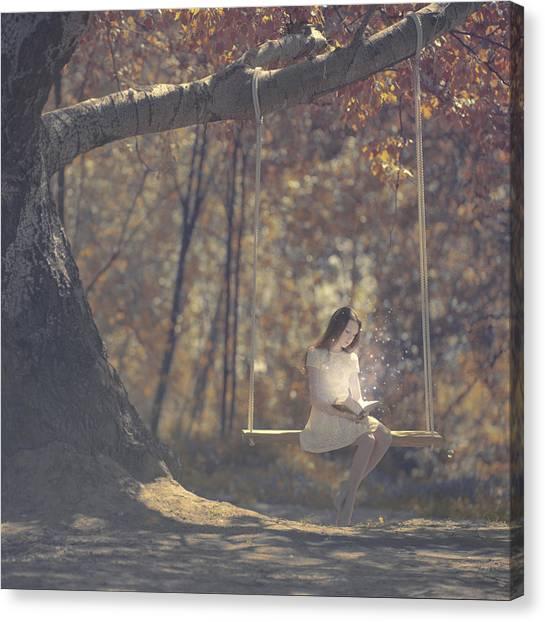 Swing Canvas Print - Summer Reading by Anka Zhuravleva