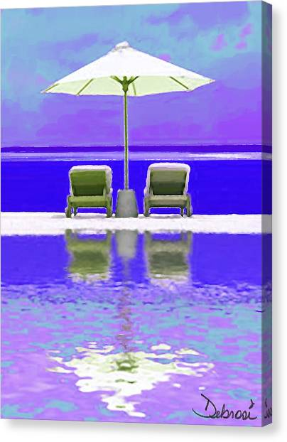 Summer Reflections Canvas Print by Deborah Rosier