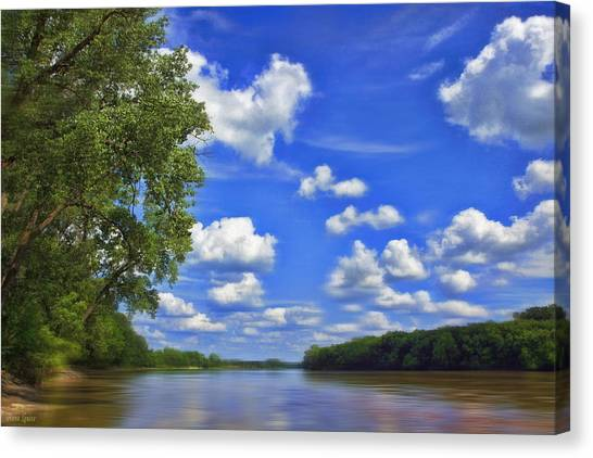 Summer River Glory Canvas Print