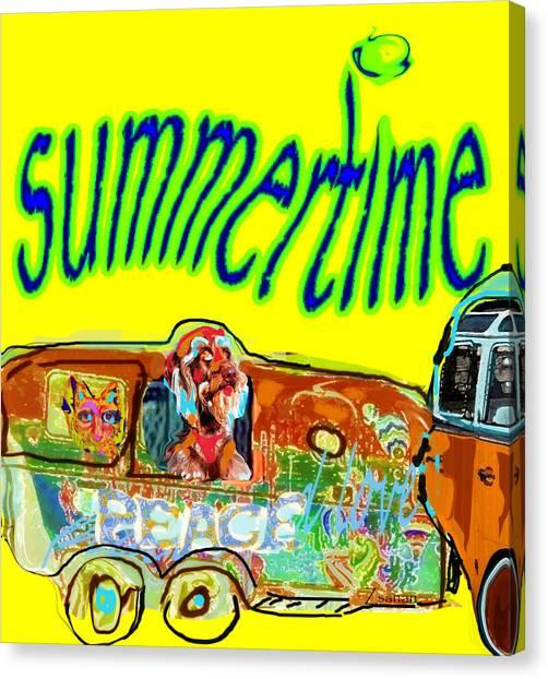 Summer Roadtrips Fun  Canvas Print