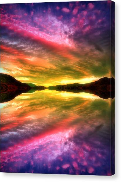 Summer Skies At Skaha Canvas Print