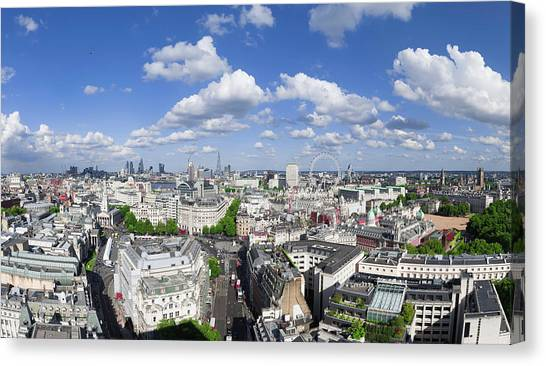Summer Skies Over London Canvas Print