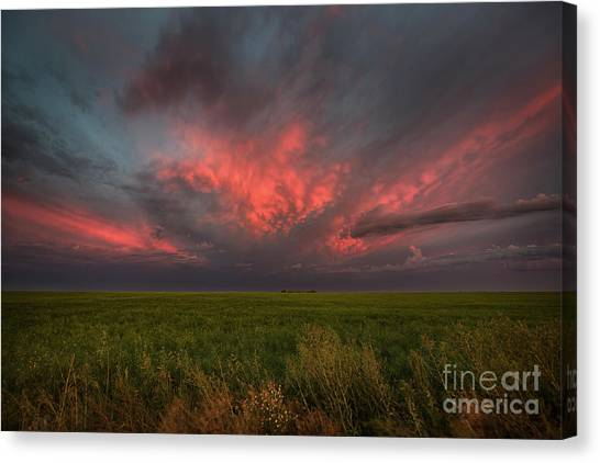 Saskatchewan Canvas Print - Summer Sky by Ian McGregor