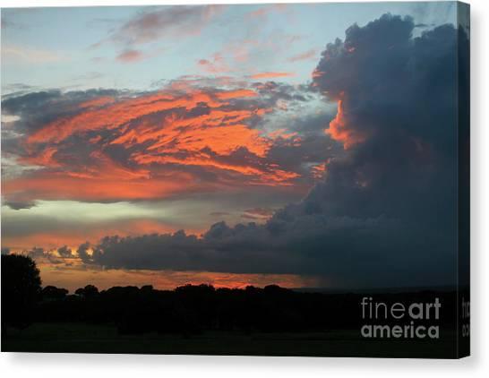 Summer Sky On Fire  Canvas Print