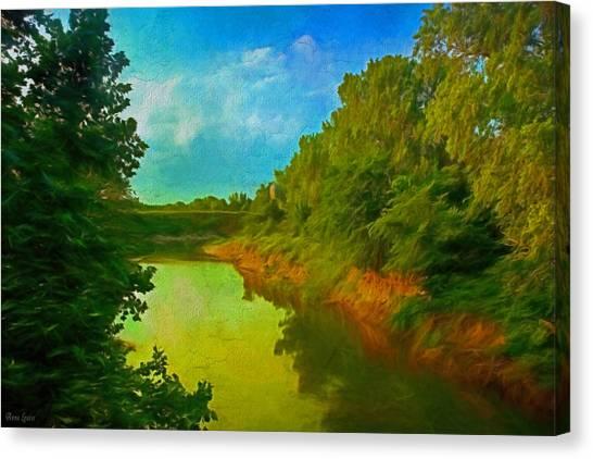 Summer Soft Morning Creek Canvas Print