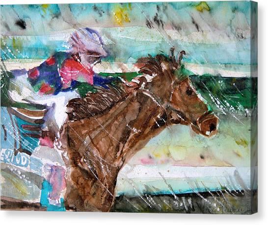 Summer Squall Horse Racing Canvas Print
