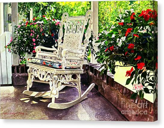 Summer Sun Porch Canvas Print by David Lloyd Glover