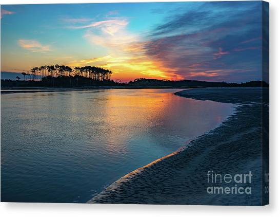 Summer Sunrise At The Inlet Canvas Print