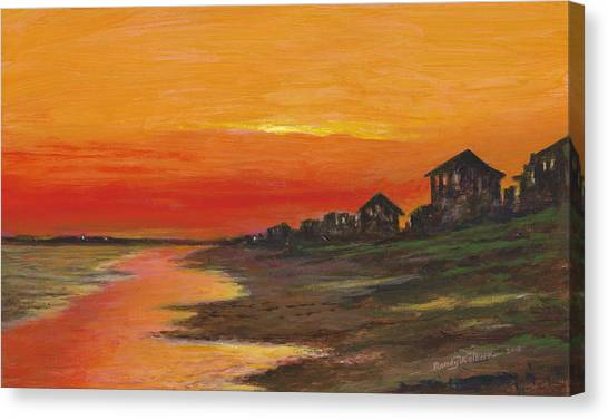 Summer Sunset At  Crystal Beach Canvas Print