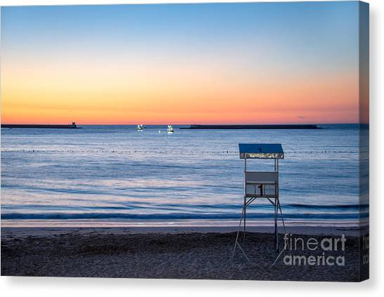 Coast Guard Canvas Print - Summer Sunset by Delphimages Photo Creations