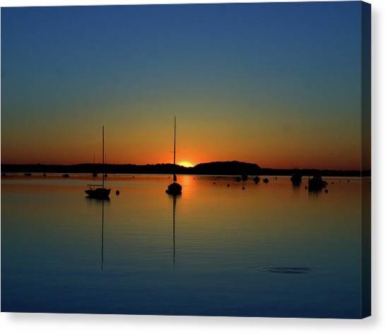 Summer Sunset Monument Beach Canvas Print