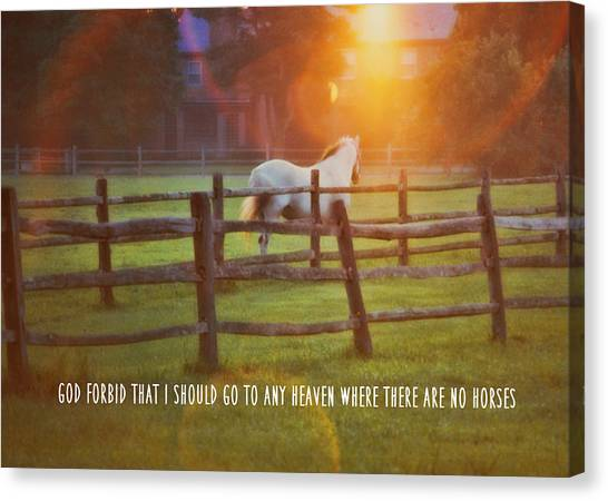 Summer Sunset Quote Canvas Print