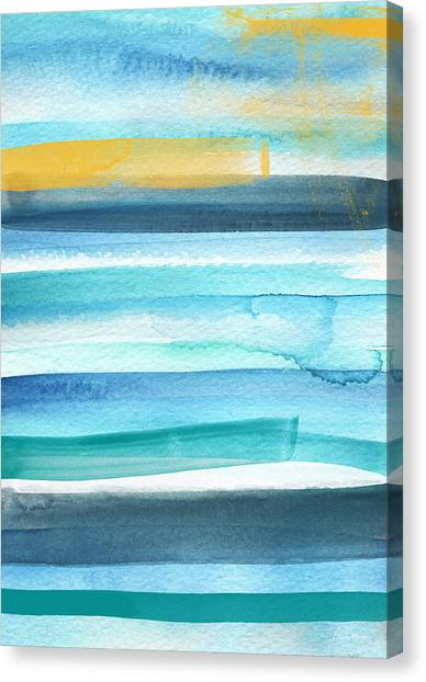 Surf Canvas Print - Summer Surf 2- Art By Linda Woods by Linda Woods