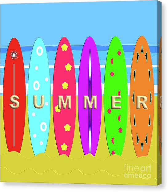 Summer Surf Canvas Print