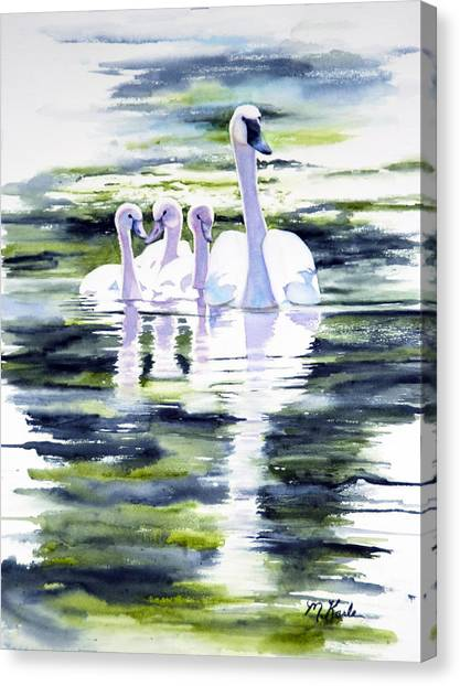 Summer Swans Canvas Print