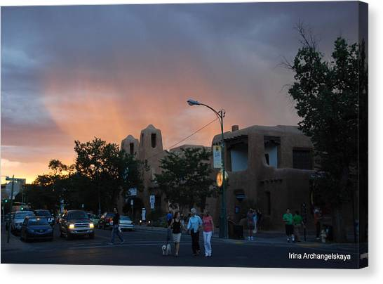 Summer Walk In Santa Fe  Canvas Print