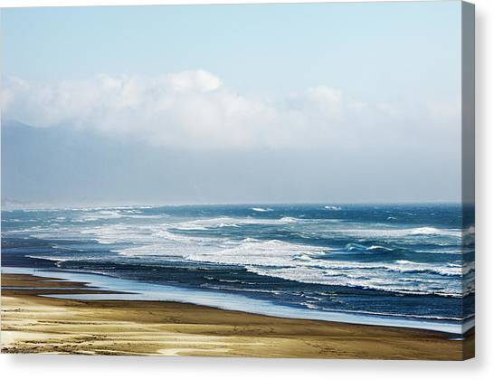 Summer Waves Netarts Oregon Canvas Print