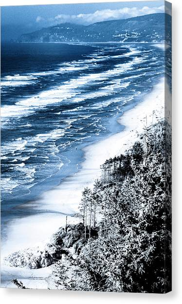 Summer Waves Cape Lookout Oregon Coast Canvas Print