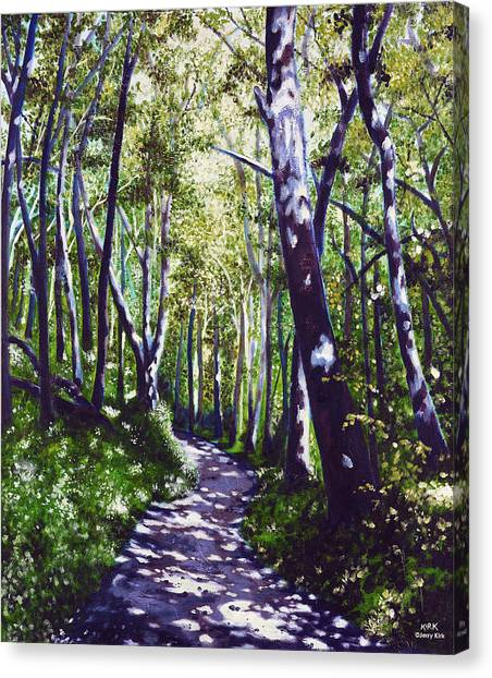 Summer Woods Canvas Print by Jerry Kirk