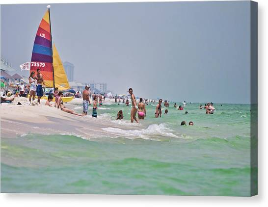 Summers Day On Pensacola Beach Canvas Print