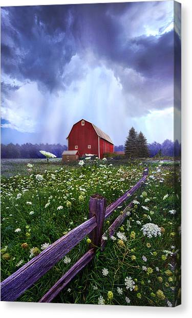 Barn Storm Canvas Print - Summer's Shower by Phil Koch