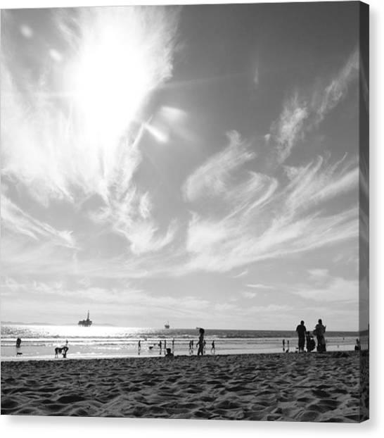 White Sand Canvas Print - Summer's Sky by Leah McPhail