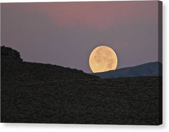 Summers Super Moon Canvas Print