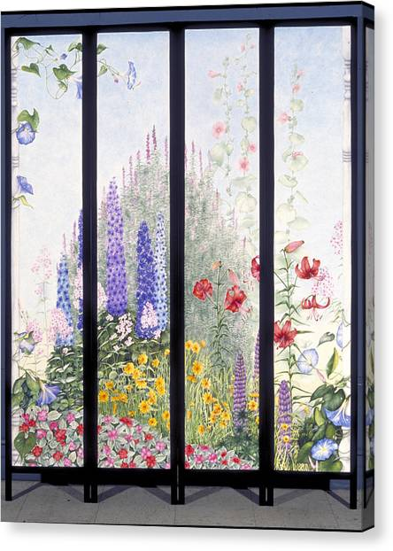 Summerscreen Canvas Print by Nancy  Ethiel
