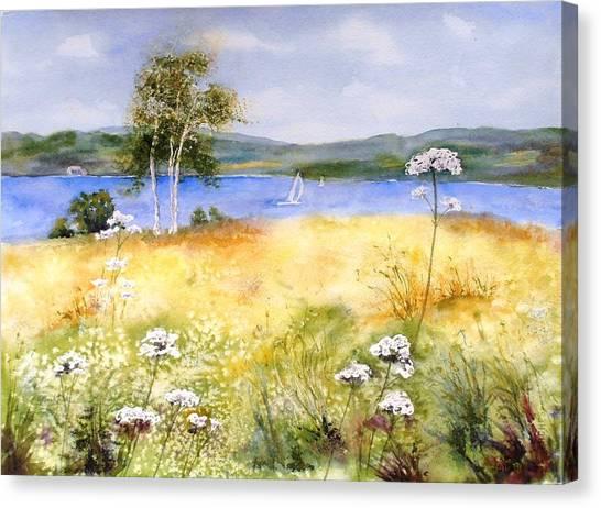 Summertime Birches Canvas Print