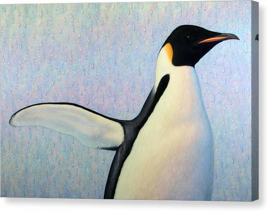 Penguins Canvas Print - Summertime by James W Johnson