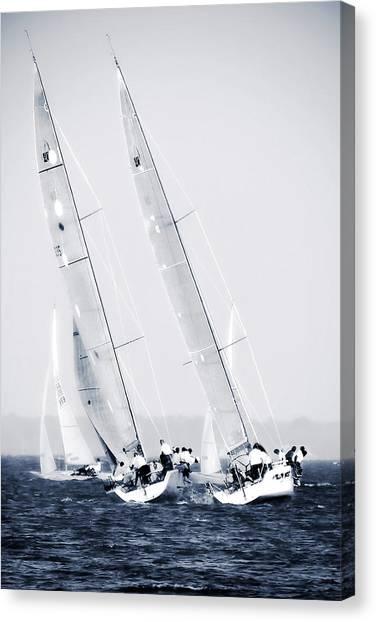 Summertime Race 6 Canvas Print by Alan Hausenflock