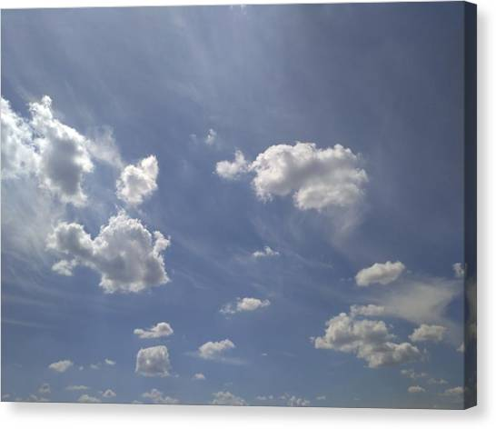 Sunny Canvas Print - Summertime Sky Expanse by Arletta Cwalina