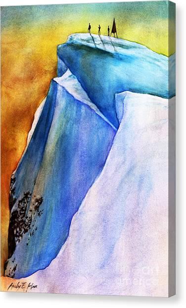 Mountain Climbing Canvas Print - Summit by Hailey E Herrera