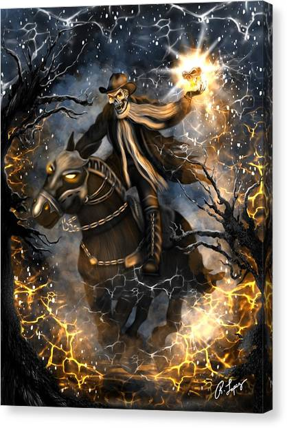 Summoned Skull Fantasy Art Canvas Print