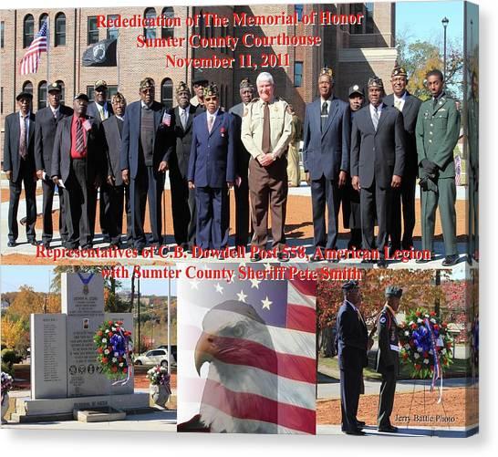 Sumter County Memorial Of Honor Canvas Print