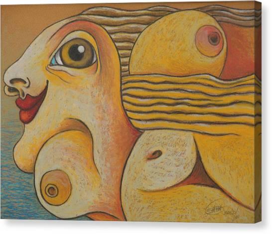 Sun  2001 Canvas Print by S A C H A -  Circulism Technique