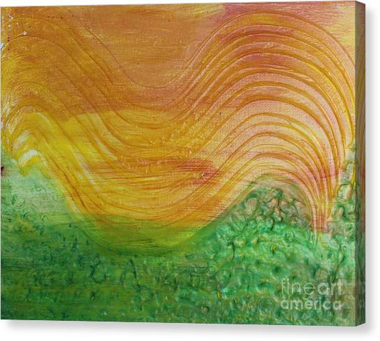 Sun And Grass In Harmony Canvas Print
