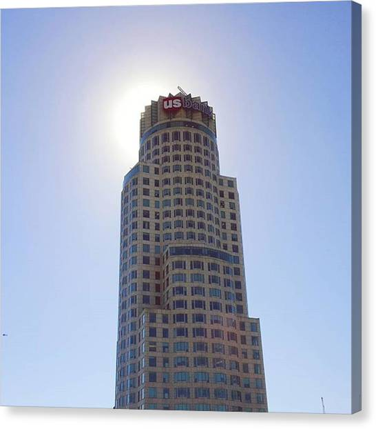 Helicopters Canvas Print - #sun Behind #librarytower In by Robert Ceccon