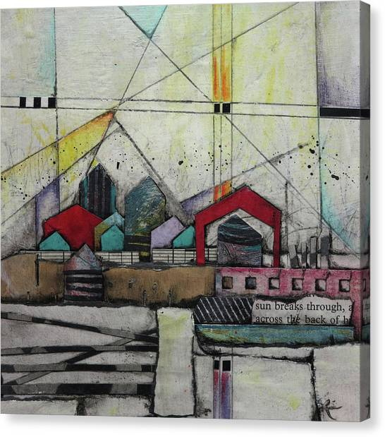 Canvas Print - Sun Breaks Through  by Laura Lein-Svencner