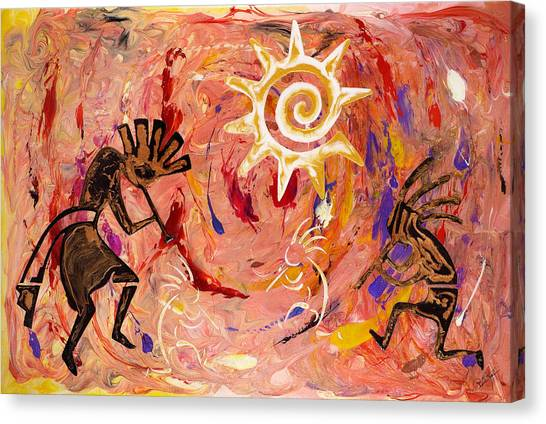 Sun Dance Canvas Print by Paul Tokarski