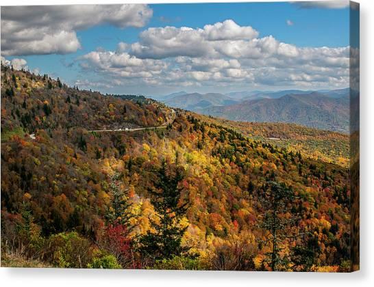 Sun Dappled Mountains Canvas Print