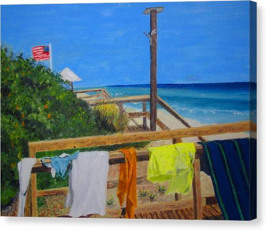 Sun Deck Canvas Print by John Terry