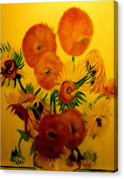 Sun Flowers Copy Canvas Print