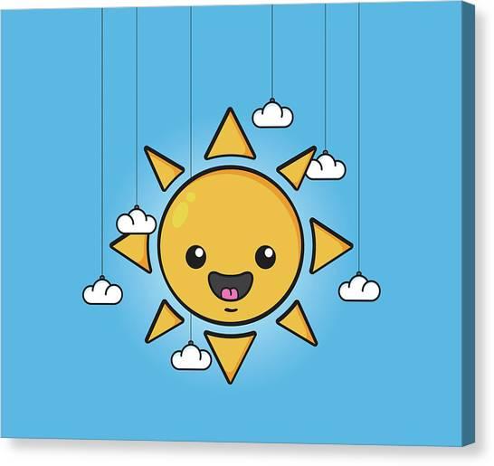 Sun Canvas Print - Sun Is Shining In The Sky by Samuel Whitton
