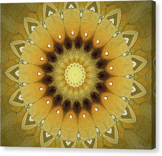 Repeat Canvas Print - Sun Kaleidoscope by Wim Lanclus