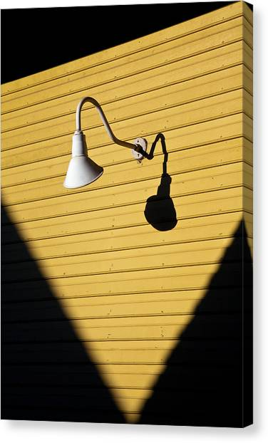 Street Lamp Canvas Print - Sun Lamp by Dave Bowman